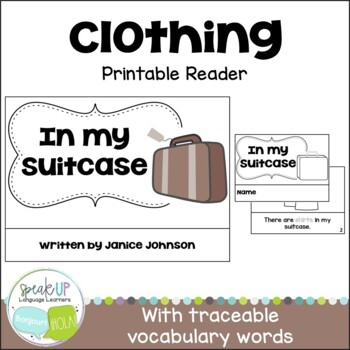 In my Suitcase Clothing Reader & Cut & Paste Activity {You