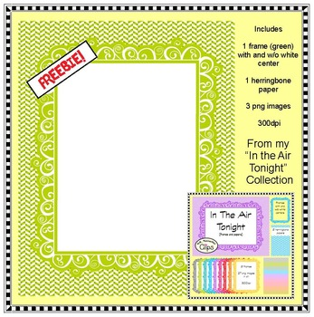 In the Air Tonight -  Paper/ Frame Freebie