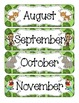 In the Jungle Calendar Numbers, Months and Days