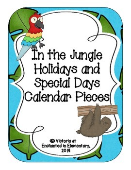 In the Jungle Holiday Calendar Pieces