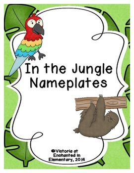 In the Jungle Nameplates
