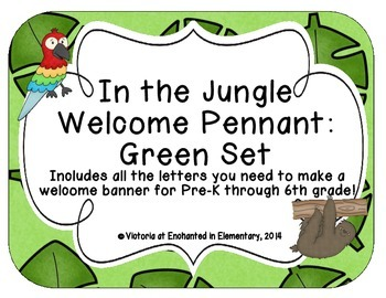 In the Jungle Welcome Pennant: Green Set
