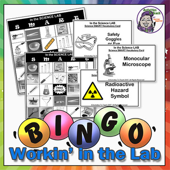 In the Lab (Science Equipment) - Science Smart Bingo