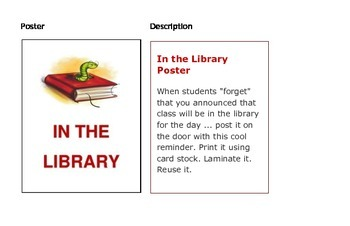 In the Library Poster