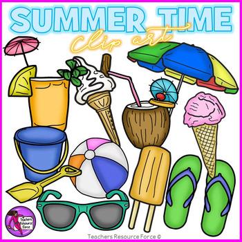 Summer things clip art