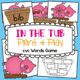cvc Game - In the Tub - Literacy Game / Center - Suits Mrs
