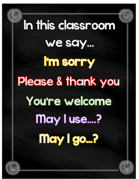 In this classroom we say....