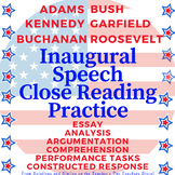 Close Reading BUNDLE! Inaugural Speech Non-Fiction Analysis
