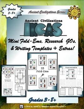 Incan Civilization Interactive Mini Research Fold-Ems and