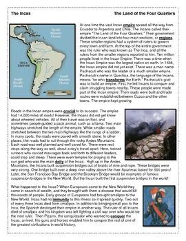 Incan Empire reading