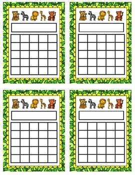 Incentive Chart {Jungle Animals}