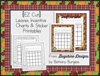 Incentive Chart & Sticker Printables {Leaves & September} Freebie