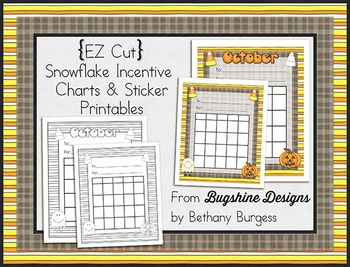 Incentive Chart & Sticker Printables {October & Candy Corn}