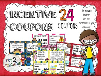 Incentive Coupons - 24 Coupons for Incentives, Rewards & M