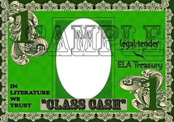 """Incentive Program- """"CLASS CASH"""" Color Version $1 & $5"""