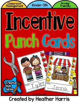 Incentive Punch Cards: APPLE Theme