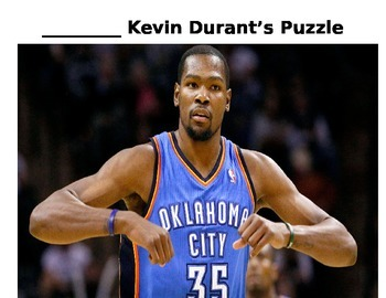 Incentive System: Kevin Durant Puzzle Piece Reward System