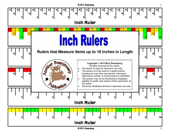 Inch Rulers: Rulers that Measure Items Up to 10 Inches in Length
