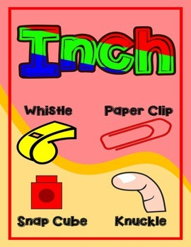 Inches = Measurement Poster/Anchor Chart with Cards for Students