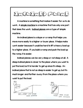 Inclined Plane Information