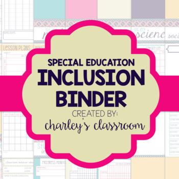 Inclusion/Co-Teaching Binder (Aztec Prints)