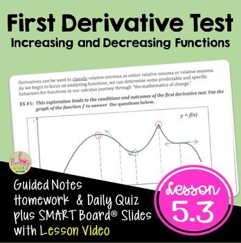 Calculus: First Derivative Test