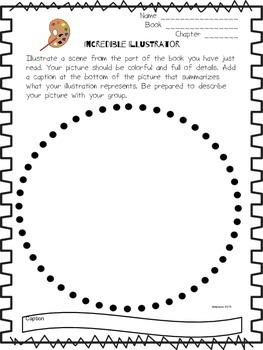 Literature Circles Response Form- Incredible Illustrator