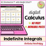 Digital Indefinite Integrals Activity - Google Edition