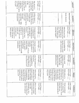 Independant Reading Project Calendar Grades 3-9