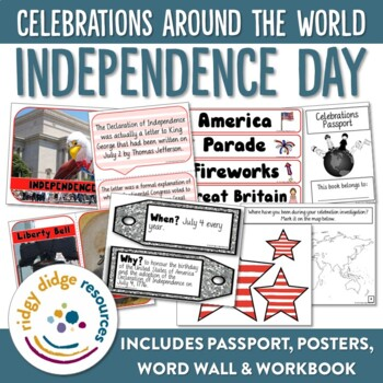 Independence Day Display Bundle - Posters, Word Wall, Stud