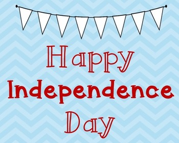 Independence Day Poster, Class Decor, Holiday Sign, Bullet