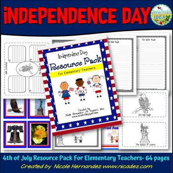 Independence Day 4th of July Resource Pack For Elementary
