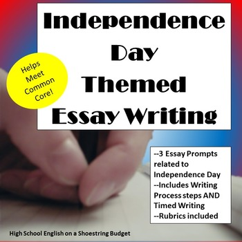Independence Day (Fourth of July) Theme Essay Writing, w R