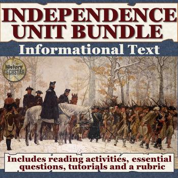 Independence Unit Informational Text Bundle
