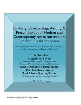 Independent American Literature Reading, Research, & Compa