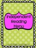 Independent Book Study - Menu Activities