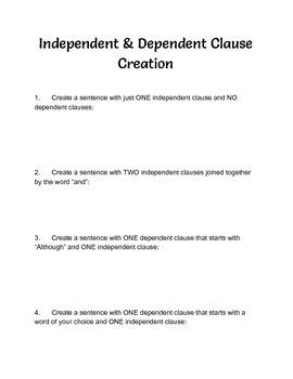 Independent & Dependent Practice
