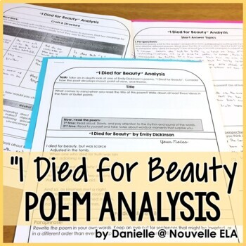 Independent Poetry Analysis - I Died for Beauty by Emily D