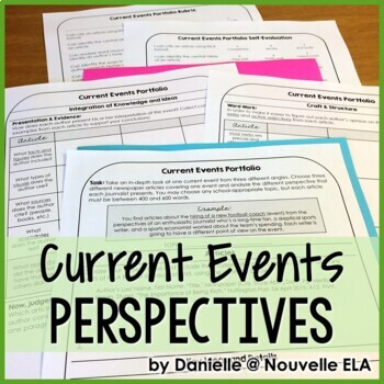Independent Reading Activity - Current Events Portfolio