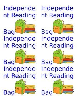 Independent Reading Bag Labels