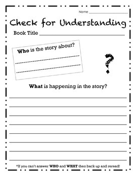 Independent Reading: Check for Understanding