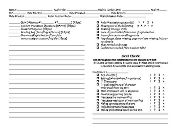 Independent Reading Conference Sheet-Read 180 (VERSION 2)