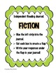 Independent Reading Journal Printables - Non-Fiction and F
