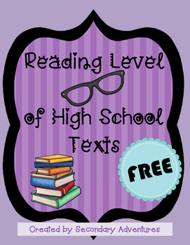 Reading Level of High School Texts
