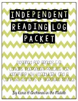 Independent Reading Log Packet