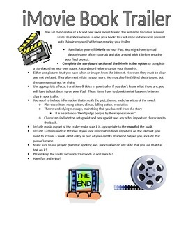 Independent Reading Project-iMovie