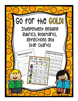 Independent Reading Rubrics,Bookmarks,Classroom Chart,Refl