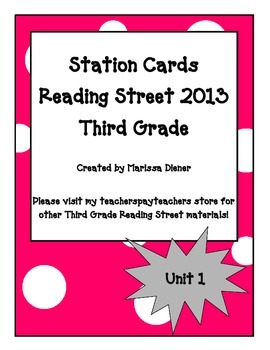 Independent Stations Cards - Reading Street 2013 - 3rd Gra