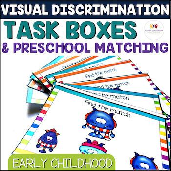 Independent Work Tasks: Discrimination Match Early Childho