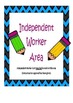 Independent Worker Cards: Classroom Management